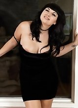 Bailey Removes Her Sleek Black Dress for You to have a Full View of Her Thick Package