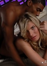 Horny Angelina taking a huge black cock