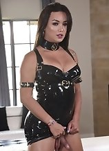 Bianka Makes Me Rock Hard with that Sexy Black Latex Dress