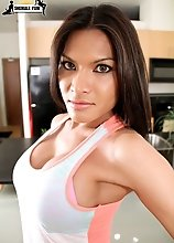 Angee is orgionally from Vietnam, but now lives in Canada. She is very cute, sweet and easy to work with. Definitely a girl worth checking out. Great