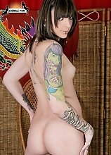 Alternative tattooed TS hottie
