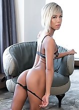 Japanese Ladyboy Miran Chair Posing