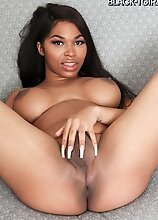 Black tgirl Peachez can't wait to pull her big cock out, make it hard and stroke it! Watch her getting naughty for you in this smashing solo scen