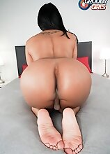 Busty tgirl Joss Amor can't wait to start with the action! Watch her posing, showing off her juicy big ass and stroking her cock until she cums!