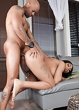 Watch busty black tgirl Peachez enjoying getting her tight ass fucked by Soldier Boi in this smashing hardcore scene!