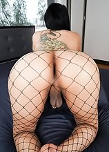 Diamond Dixxon loves showing off her amazing curves and her thick juicy ass! Watch her stripping and stroking her cock until she shoots a big load!