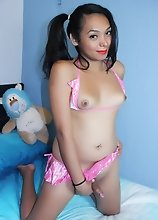 Barely Legal Tranny fucking her Stuffed Toy