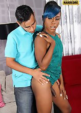 Tiyara is a gorgeous tgirl with a smoking hot fresh body, a sexy bubble butt and a big hard cock! Watch as she makes Lalo deep throat her before she f