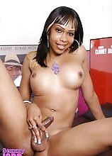 Ebony Sexxxy Jade Playing With Her Fat Cock