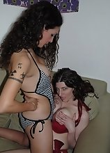 Horny tgirl playing with a hot chick
