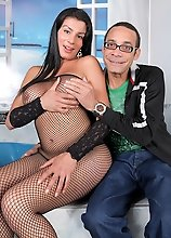 Watch the gorgeous Corolina get her tranny ass destroyed by Ramon!