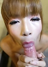 18yo ladyboy with small tits sucks and fucks white tourists cock