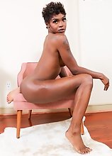 Kendra Kellz is a young ebony model with an amazing body, nice boobs and a perfect ass! Watch her showing off her body and playing with her cock!