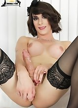 Stunning statuesque transwoman Nina Lawless is back sexy as hell! TS Nina has a sexy body, long hot legs, a great ass and a sexy huge cock that she li