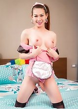 Thai Ladyboy Bom - Maid Toying For You