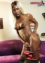 Kendall Dreams is a stunning black tgirl with an amazing body, big tits, a firm bubble butt and a rock hard cock! Watch this hot tgirl jacking off!
