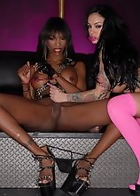 Nasty Natassia screws hot Angelina